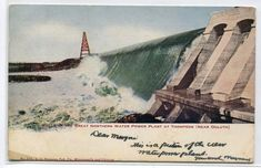 Great Northern Water Power Plant Thompson Duluth Minnesota 1906 Postcard Power Plant Water Powers Duluth