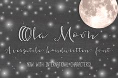 Ola Moon Typeface by Seven Seas Design Co. on Creative Market