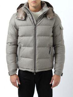 Moncler Down Jacket - Moncler Montgenevre - light brown (color code 219) - wool
