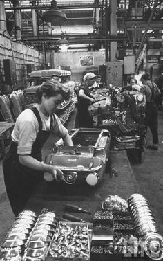 Workers making pedal cars