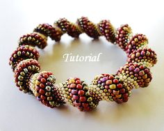 PDF for beadwoven bangle modified Cellini Spiral by PeyoteBeadArt