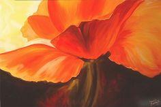 poppy Flower Drawings | ABSTRACT POPPY - by Marcia Baldwin from FOTM Poppies art exhibit