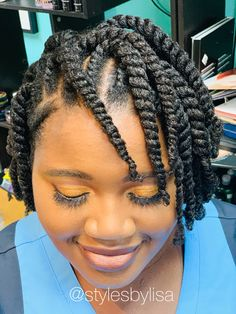 Styled by natural hair specialist Hair Twist Styles, Flat Twist Hairstyles, Flat Twist Updo, Cool Hairstyles, Short Hair Styles, Black Hairstyles, Flat Twist Styles, Wedding Hairstyles, American Hairstyles