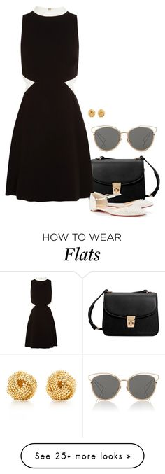 """""""Constance."""" by foreverforbiddenromancefashion on Polyvore featuring MANGO, Rachel Zoe, Christian Louboutin, Christian Dior and Tiffany & Co."""