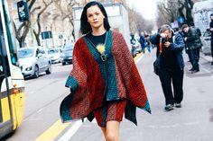 Street looks à la Fashion Week automne-hiver 2015-2016 de Milan | Vogue