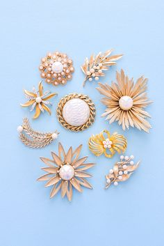 Vintage Pearl Statement Brooches from Sweet & Spark. Shop our feminine vintage jewelry and clothing collections!