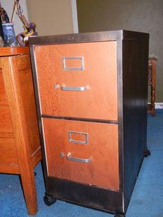 declopage file cabinets | Another decoupage file cabinet ...