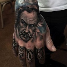 Well I think I know what my first tattoo might be . Bad Tattoos, I Tattoo, Tattoos For Guys, Sleeve Tattoos, Tatoos, Hand Tats, Vincent Price, Cool Tats, Best Canvas