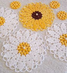 Watch The Video Splendid Crochet a Puff Flower Ideas. Phenomenal Crochet a Puff Flower Ideas. Crochet Puff Flower, Crochet Box, Crochet Crafts, Easy Crochet, Crochet Flowers, Crochet Mandala Pattern, Crochet Flower Patterns, Crochet Dishcloths, Crochet Doilies