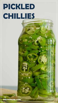 Pickled Chillies, chillies, side recipe, mexican, homemade jalapeno, pickled jalapeno l www.prettypatel.com