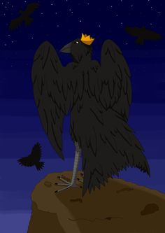 #raven #king #crow #art #drawing #sonkei