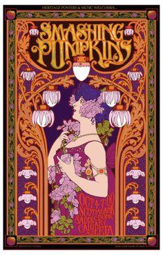 Smashing Pumpkins in Concert Prints by Bob Masse at AllPosters.com