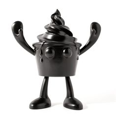 Black Ice Cream Cup Arttoy Character - Ferdi B Dick