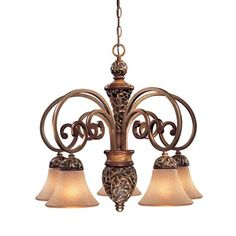 Minka Lavery 1575-477 5 Light Salon Grand Jessica McClintock Home Chandelier, Florence Patina™