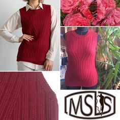 Knitted vest Knit Vest, Blouse Dress, Dress Brands, Turtle Neck, Sweaters, Clothes, Dresses, Fashion, Outfits