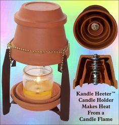 Riscaldamento fatta da vasi di terracotta e una candela. Mi piacerebbe provare questo.