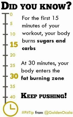 did you know? (technically, it depends on your workout)