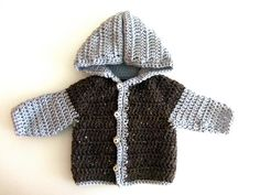 3squeezes: Easy Crochet Baby Sweater