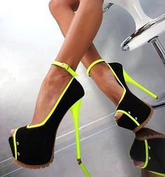 Lime-green lined heels