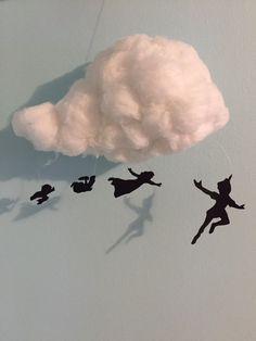 Peter Pan cloud mobile by Literart on Etsy