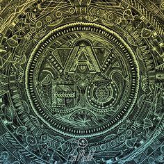Lou Medel X ATC Artist Series. Avondale Type Co. Logo  http://www.loumedel.com/ https://www.etsy.com/shop/LouMedel