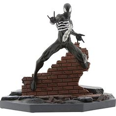 BAIT x Marvel Black Spider-Man Statue By MINDstyle, Black Marvel Hero Black Spider-Man BAIT Exclusive Statue Marvel Heroes, Marvel Comics, Marvel Room, Marvel Wolverine, Comic Superheroes, Black Spiderman, Spiderman Marvel, Spider Gwen, Batman Vs Superman
