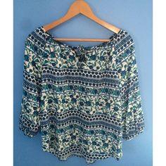 LA Hearts peasant blouse Beautiful boho design, light fabric. Mid length sleeves. Loose fitting PacSun Tops Blouses