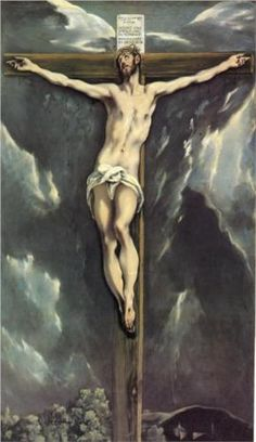 Christ on a cross  - El Greco