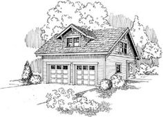 Garage with studio outbuilding. Plan is a 1421 sq ft Craftsman style, 2 story 2 car garage design with studio from Associated Designs. Quality house plans, floor plans and blueprints. Garage Apartment Plans, Garage Apartments, Garage Floor Plans, Home Planner, Craftsman Style House Plans, Garage Design, House Design, Shed Plans, Bench Plans