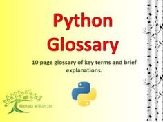 Python Glossary by nwilkin - Teaching Resources - Tes