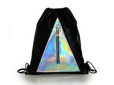 Holographic bag Bermuda by ErikaSzuecs on Etsy Glastonbury Outfits, Music Festival Outfits, Festival Fashion, Holographic Bag, Hologram, Festival Coats, Boho Outfits, Fashion Outfits, Festival Sunglasses