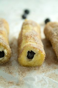 Blueberry French Toast Roll-Ups! Everyone will love them!