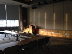 Meeting room (with stage behind panels)