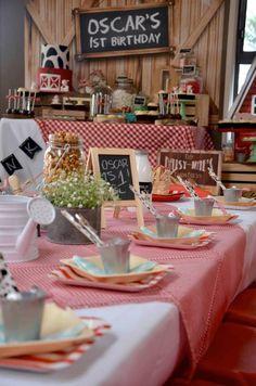 Rustic Barnyard Birthday Party via Kara's Party Ideas! The Place for All… Farm Birthday, Animal Birthday, First Birthday Parties, Birthday Party Themes, Birthday Ideas, Birthday Celebrations, Barnyard Party, Farm Party, Fun Party Themes