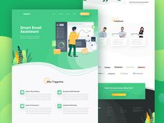 Triggmine - Email Assistant Landing Page designed by Piko Rizky Dwinanto ✪ for OWW. Connect with them on Dribbble; Landing Page Inspiration, Banner Design Inspiration, Landing Page Examples, Landing Page Design, Robot Assistant, Ux Design Principles, Sales Dashboard, Design Responsive, Responsive Web