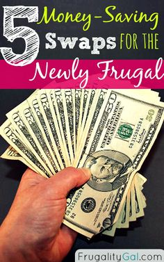 Are you new to #frugal living? These easy money-saving swaps will help you save money without making radical changes to your lifestyle. Perfect tips for beginners!