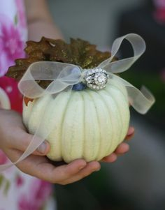 pumpkin ring bearer pillow.