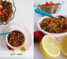 gül seda baltacı: HATAY USULÜ KISIR Turkish Recipes, Ethnic Recipes, Chana Masala, Fried Rice, Salsa, Fries, Deserts, Beef, Stylish
