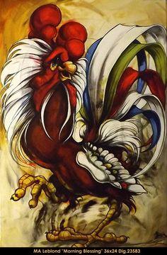 #marieandreeleblond #art #canadianartist #quebecartist #painting #rooster #multiartltee #balcondart