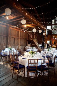 Well, if we renew our vows, I would love to have an elegant wedding in a lovely barn.
