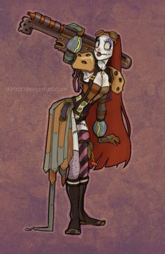 Nightmare Before Christmas Sally meets Final Fantasy