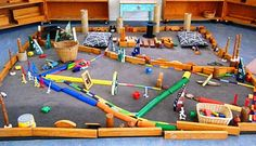 let the children play: props in the block area at preschool. Some really great ideas for adding props . Preschool Block Area, Preschool Centers, Preschool Activities, Preschool Kindergarten, Summer Activities, Play Based Learning, Learning Through Play, Early Learning, We Built This City