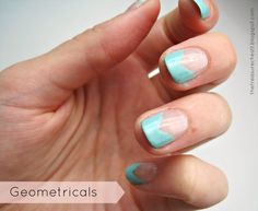 Geometric Angle Edgy French Tips Manicure #nails