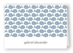 Ocean Icons - Folded Notecard   Folded Words