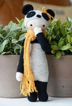 Lalylala Panda #amigurumi #crochet #panda