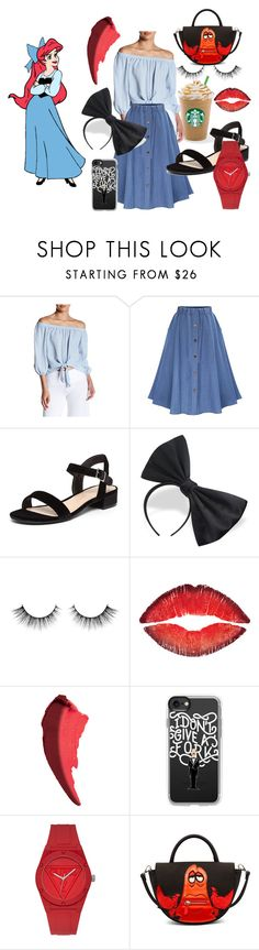 """""""Ariel on Land-The Little Mermaid"""" by catie-kridler on Polyvore featuring Soprano, WithChic, Dorothy Perkins, Givenchy, Casetify, GUESS, Danielle Nicole, disney, disneybound and disneycharacter"""