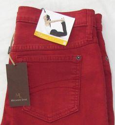 Second Yoga Red Jeans High Waist Straight Leg Stretch sz 29 X 34 NWT NEW #SecondYoga #StraightLeg