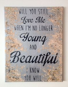 Young and Beautiful Metallic Silver by RobboShop on Etsy $20.00 & Young and Beautiful The Great Gatsby Wall Art MADE by RobboShop ...