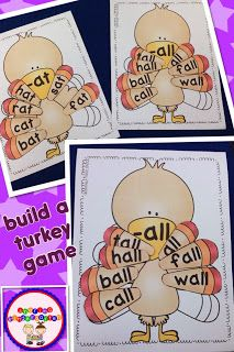 Sharing Kindergarten: Need to work on rhymes and word families? Why not build a turkey!
