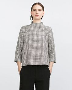 Image 1 of TWEED TOP from Zara